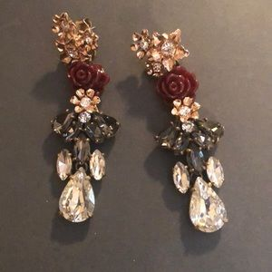 J. Crew Accessories - J crew rose earings